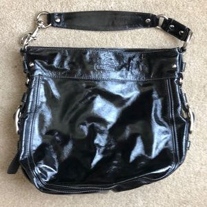 COACH patent leather hobo